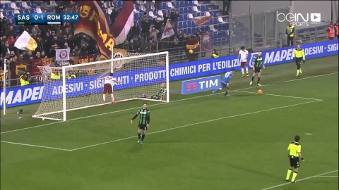 شووت_فيديو l Sassuolo 0-2 AS Roma All Goals & Highlights | Full Screen | HD 1080p | [02/02/2016]
